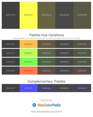 Palette image download - Dim Gray – Green Yellow – Dark Olive Green – Dim Gray – Dim Gray