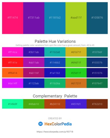 Palette image download - Deep Pink – Dark Violet – Light Coral – Yellow Green – Indian Red