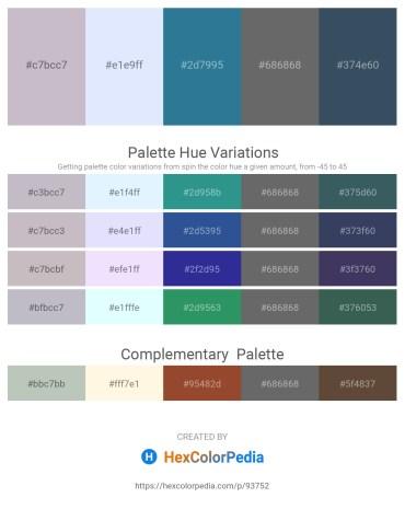 Palette image download - Thistle – Alice Blue – Steel Blue – Dim Gray – Dark Slate Gray