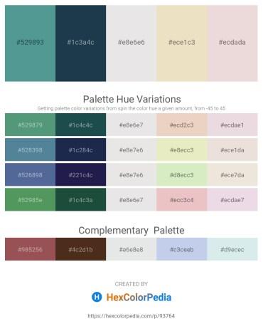 Palette image download - Cadet Blue – Dark Slate Gray – Gainsboro – Beige – Thistle