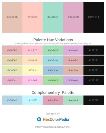 Palette image download - Burlywood – Pink – Powder Blue – Plum – Black