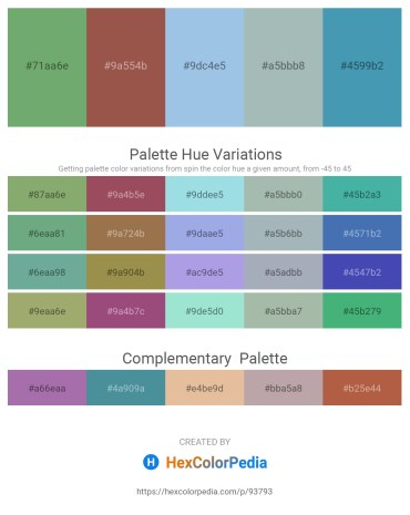 Palette image download - Dark Sea Green – Sienna – Light Blue – Dark Sea Green – Steel Blue