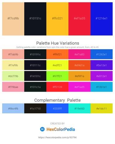Palette image download - Wheat – Peru – Gold – Crimson – Blue