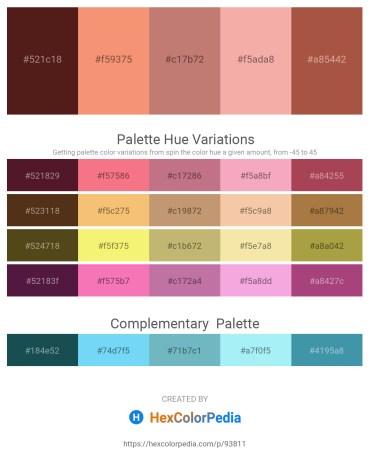 Palette image download - Brown – Salmon – Rosy Brown – Dark Slate Gray – Sienna