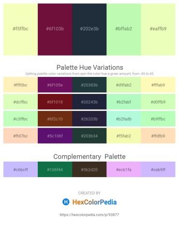 Palette image download - Lemon Chiffon – Sienna – Dark Slate Gray – Pale Green – Lemon Chiffon
