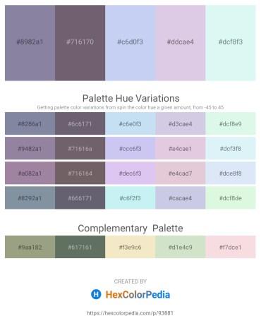 Palette image download - Light Slate Gray – Dim Gray – Lavender – Light Steel Blue – Pale Turquoise