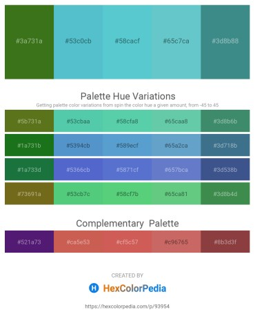 Palette image download - Forest Green – Medium Turquoise – Medium Turquoise – Medium Aquamarine – Medium Aquamarine