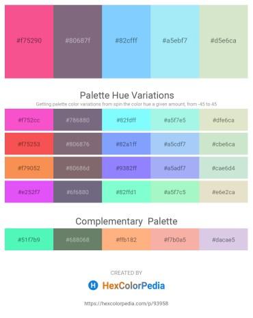 Palette image download - Hot Pink – Gray – Light Sky Blue – Light Sky Blue – Beige