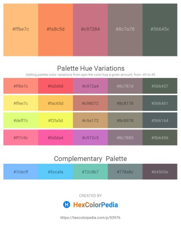 Palette image download - Light Salmon – Coral – Indian Red – Gray – Dark Slate Gray