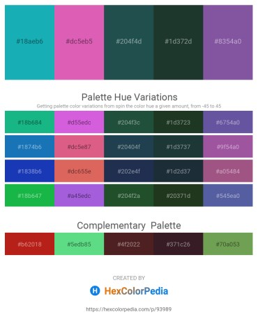 Palette image download - Light Sea Green – Orchid – Dark Slate Gray – Dark Slate Gray – Dark Slate Blue