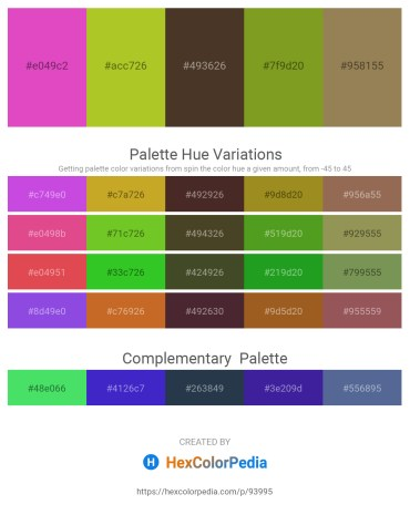Palette image download - Orchid – Yellow Green – Rosy Brown – Olive Drab – Dark Khaki