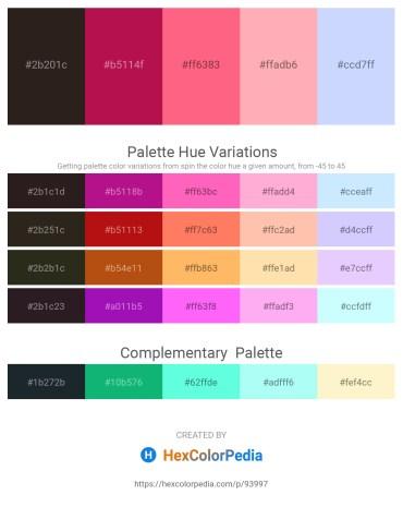 Palette image download - Black – Crimson – Salmon – Light Pink – Alice Blue