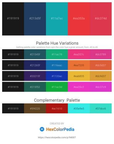 Palette image download - Black – Midnight Blue – Light Sea Green – Crimson – Crimson