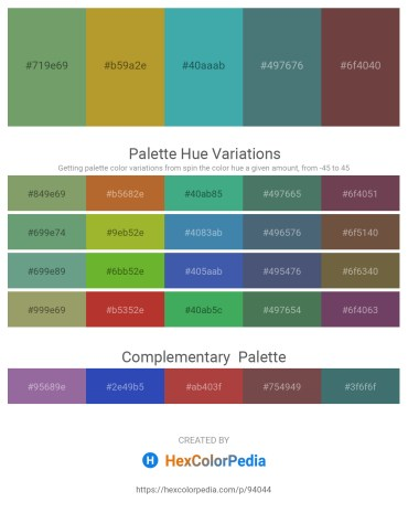 Palette image download - Dark Sea Green – Peru – Medium Sea Green – Dark Slate Gray – Green Yellow