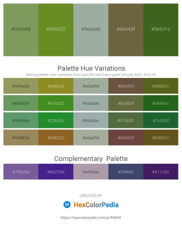 Palette image download - Dark Sea Green – Olive Drab – Dark Sea Green – Dark Olive Green – Forest Green