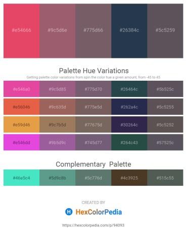 Palette image download - Crimson – Rosy Brown – Dim Gray – Dark Slate Gray – Dim Gray