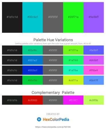 Palette image download - Black – Dark Turquoise – Dim Gray – Lime – Medium Slate Blue