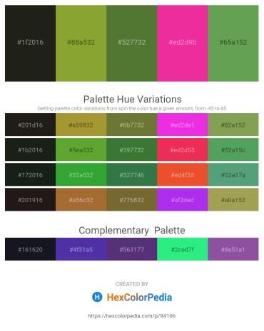 Palette image download - Black – Olive Drab – Dark Olive Green – Deep Pink – Medium Sea Green