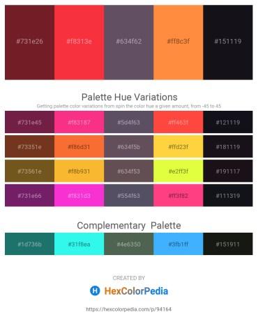 Palette image download - Brown – Tomato – Dim Gray – Coral – Dark Goldenrod