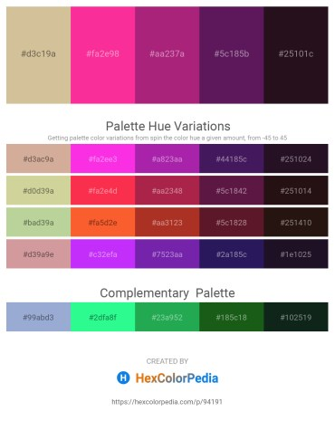 Palette image download - Tan – Deep Pink – Medium Violet Red – Dark Khaki – Black