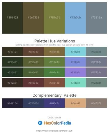 Palette image download - Dark Olive Green – Dark Olive Green – Dark Olive Green – Sky Blue – Slate Gray