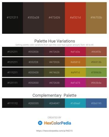 Palette image download - Black – Black – Red – Firebrick – Sienna