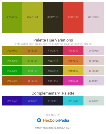 Palette image download - Olive – Yellow Green – Dim Gray – Chocolate – Thistle