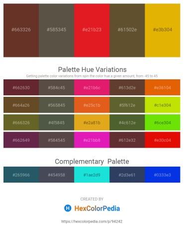 Palette image download - Sienna – Dim Gray – Crimson – Dark Olive Green – Orange