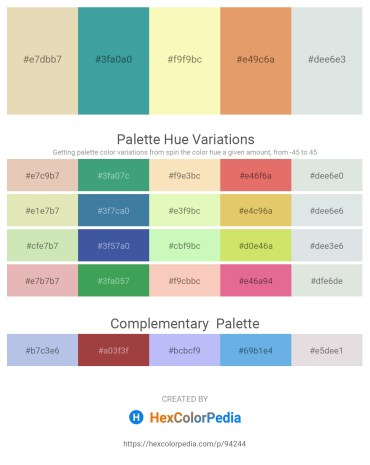 Palette image download - Beige – Black – Light Goldenrod Yellow – Dark Salmon – Light Steel Blue