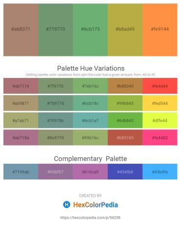 Palette image download - Rosy Brown – Dark Sea Green – Dark Sea Green – Dark Khaki – Coral