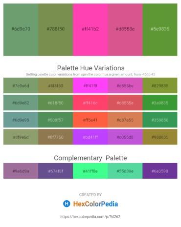 Palette image download - Dark Sea Green – Dark Olive Green – Hot Pink – Pale Violet Red – Olive Drab