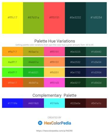 Palette image download - Yellow – Yellow Green – Tomato – Black – Light Sky Blue