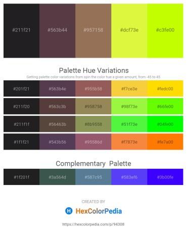 Palette image download - Black – Dim Gray – Rosy Brown – Green Yellow – Yellow