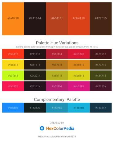 Palette image download - Dark Orange – Black – Firebrick – Chocolate – Saddle Brown