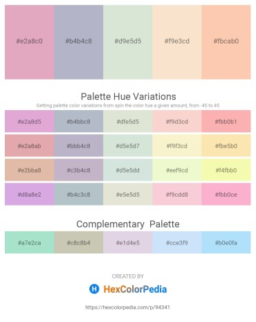 Palette image download - Plum – Light Steel Blue – Beige – Antique White – Peach Puff