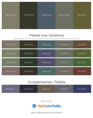 Palette image download - Gray – Orchid – Dark Slate Gray – Dim Gray – Dark Olive Green