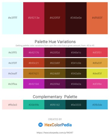 Palette image download - Light Cyan – Firebrick – Saddle Brown – Rosy Brown – Chocolate