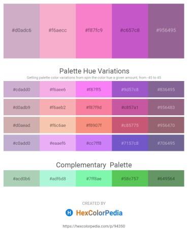 Palette image download - Thistle – Violet – Hot Pink – Medium Orchid – Dim Gray