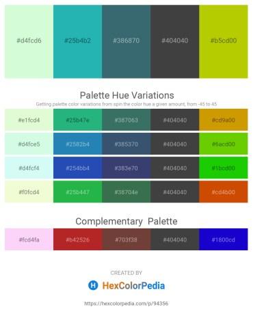 Palette image download - Honeydew – Light Sea Green – Dark Slate Gray – Dim Gray – Gold
