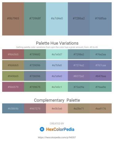 Palette image download - Rosy Brown – Light Slate Gray – Light Blue – Light Slate Gray – Light Slate Gray