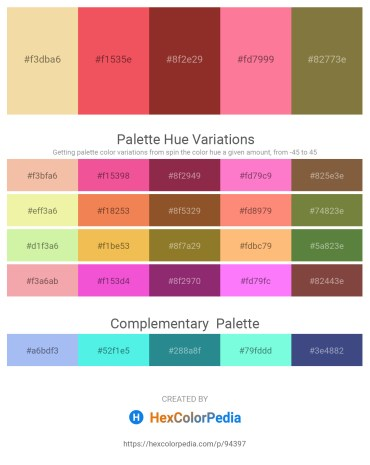 Palette image download - Wheat – Tomato – Brown – Hot Pink – Dark Olive Green