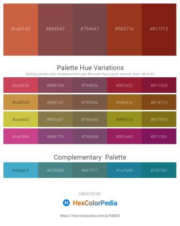 Palette image download - Indian Red – Sienna – Firebrick – Brown – Saddle Brown