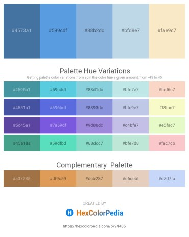 Palette image download - Steel Blue – Cornflower Blue – Light Blue – Powder Blue – Antique White