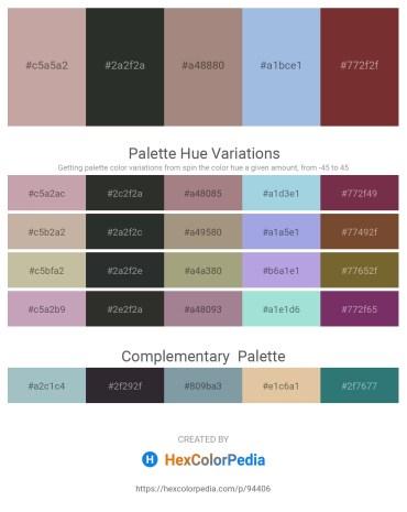 Palette image download - Rosy Brown – Dark Slate Gray – Rosy Brown – Light Blue – Sienna