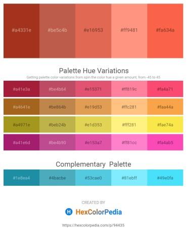 Palette image download - Firebrick – Indian Red – Peru – Light Salmon – Tomato