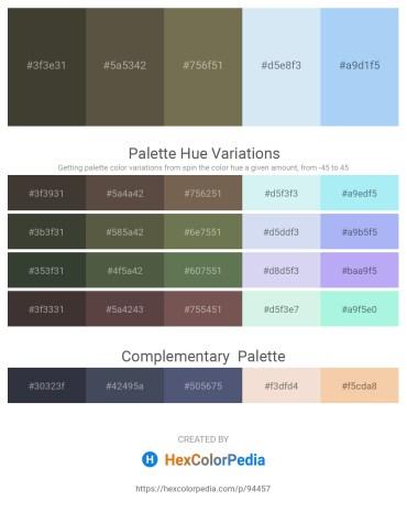 Palette image download - Dark Olive Green – Dim Gray – Dim Gray – Powder Blue – Sky Blue
