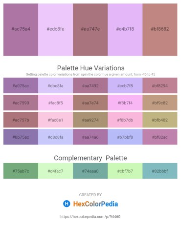 Palette image download - Rosy Brown – Lavender – Rosy Brown – Lavender – Rosy Brown