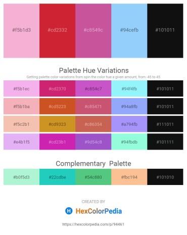 Palette image download - Violet – Firebrick – Pale Violet Red – Light Sky Blue – Cadet Blue