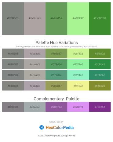 Palette image download - Gray – Dark Gray – Medium Sea Green – Light Green – Forest Green