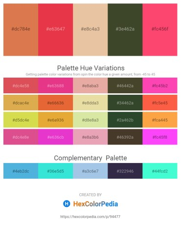 Palette image download - Peru – Crimson – Burlywood – Dark Olive Green – Tomato